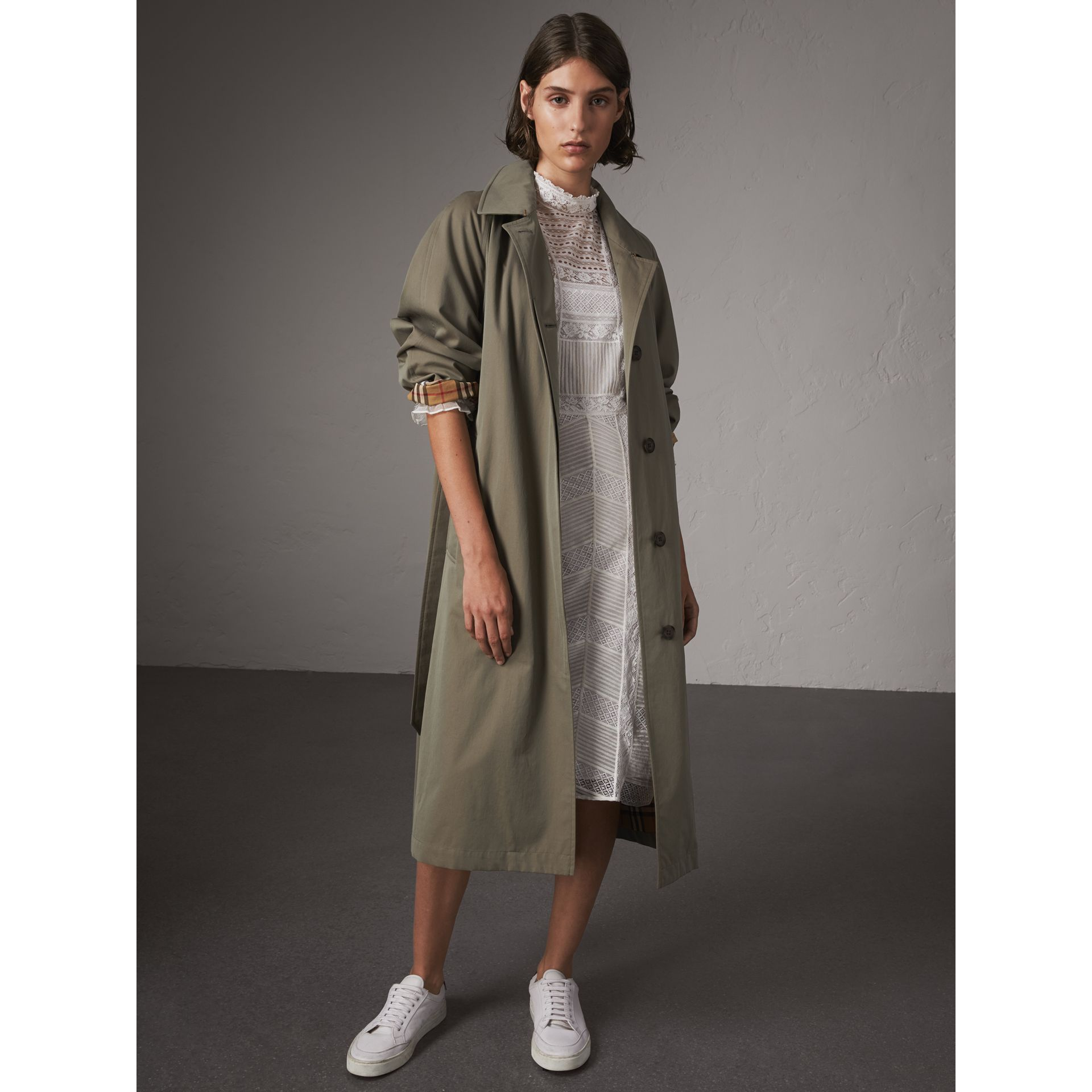 The Brighton – Car Coat extra-long (Vert Craie) - Femme | Burberry - photo de la galerie 1