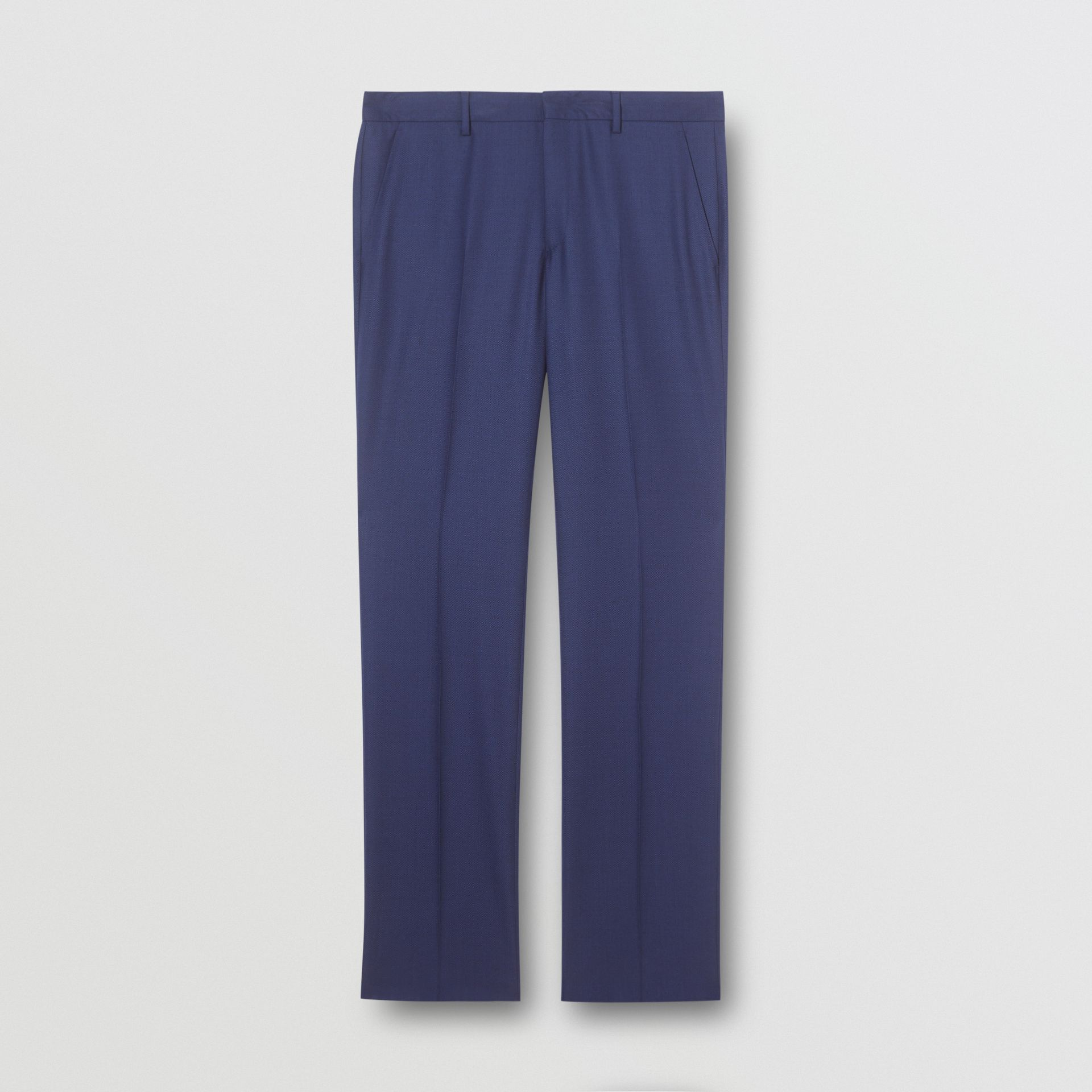 Classic Fit Birdseye Wool Tailored Trousers in Bright Navy - Men | Burberry Hong Kong S.A.R - gallery image 3