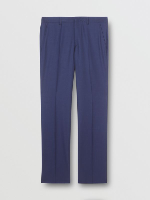 Classic Fit Birdseye Wool Tailored Trousers in Bright Navy - Men | Burberry Hong Kong S.A.R - cell image 3