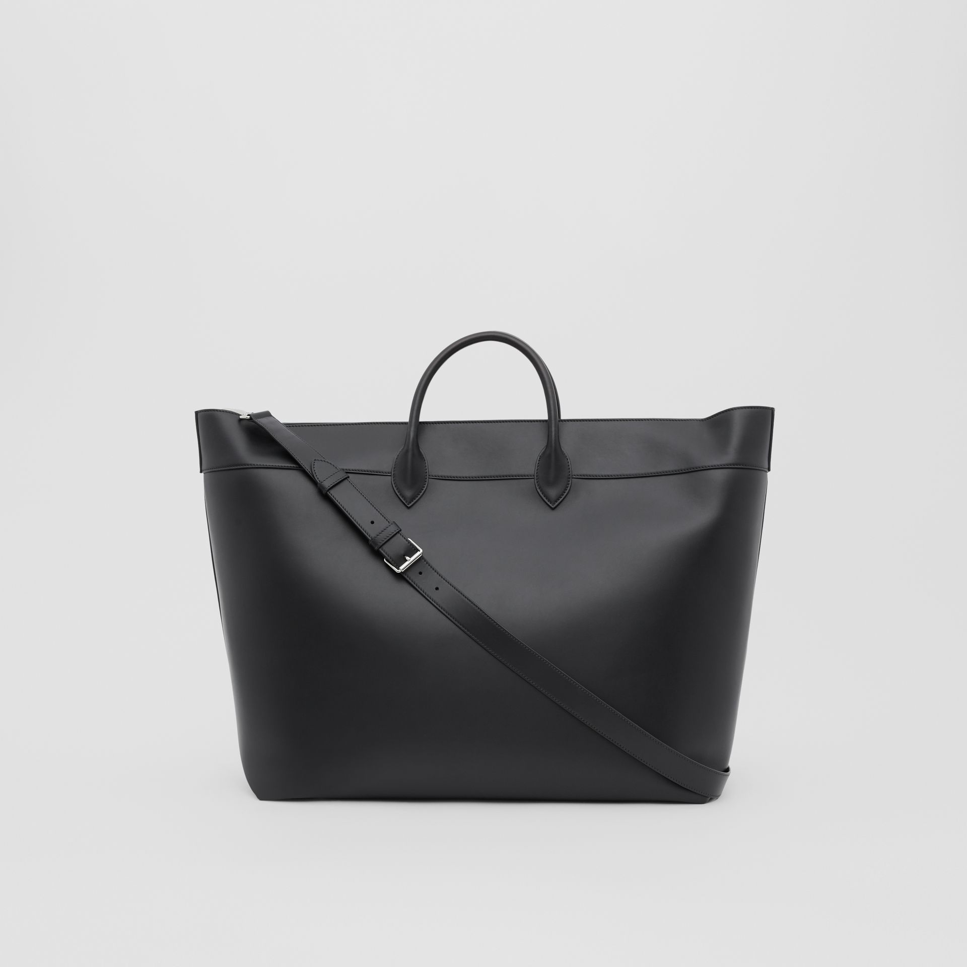 Leather Holdall in Black - Men | Burberry Australia - gallery image 7