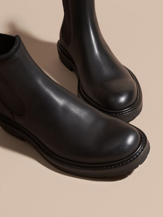 Black Leather Chelsea Boots - cell image 2