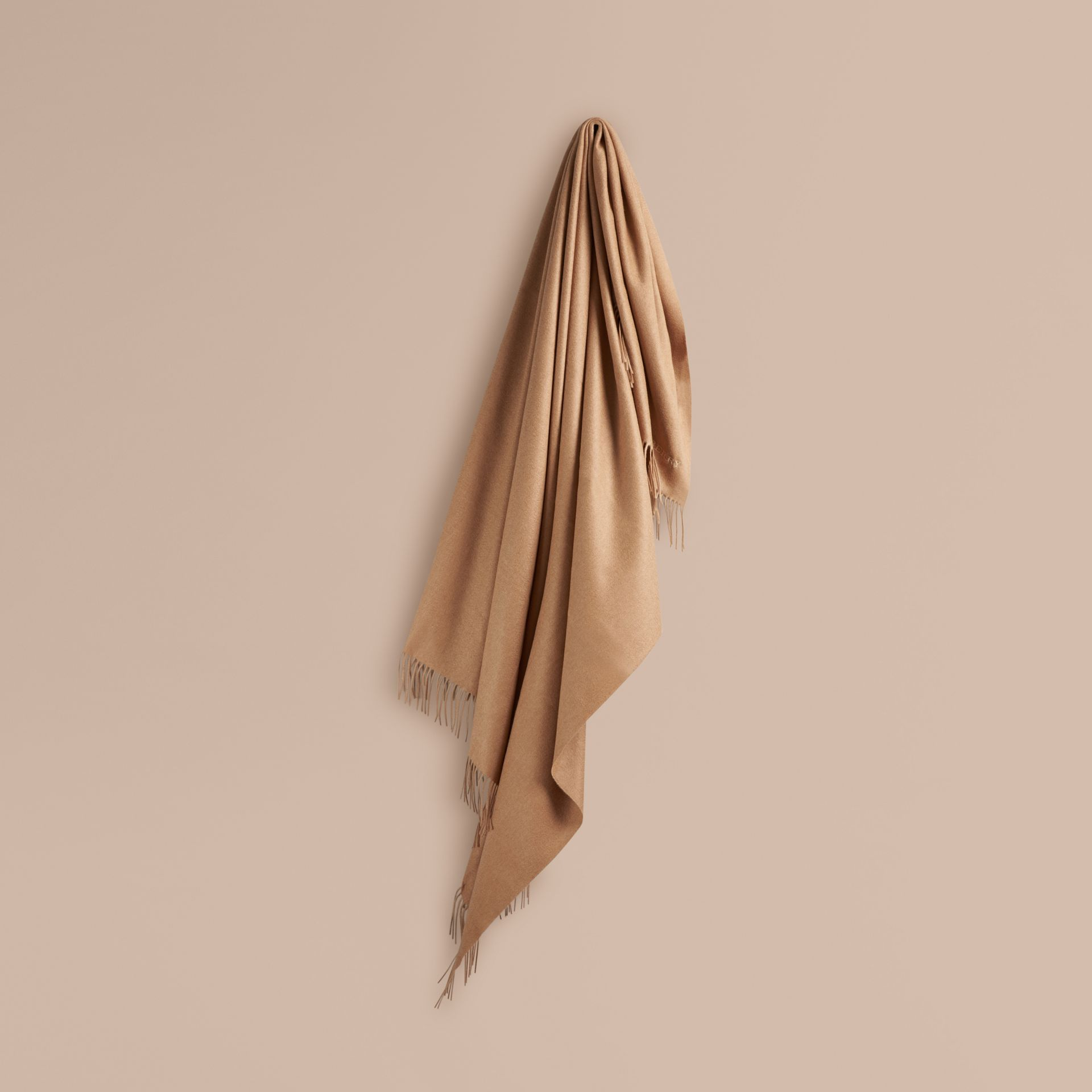Cashmere Blanket in Camel | Burberry Singapore - gallery image 1