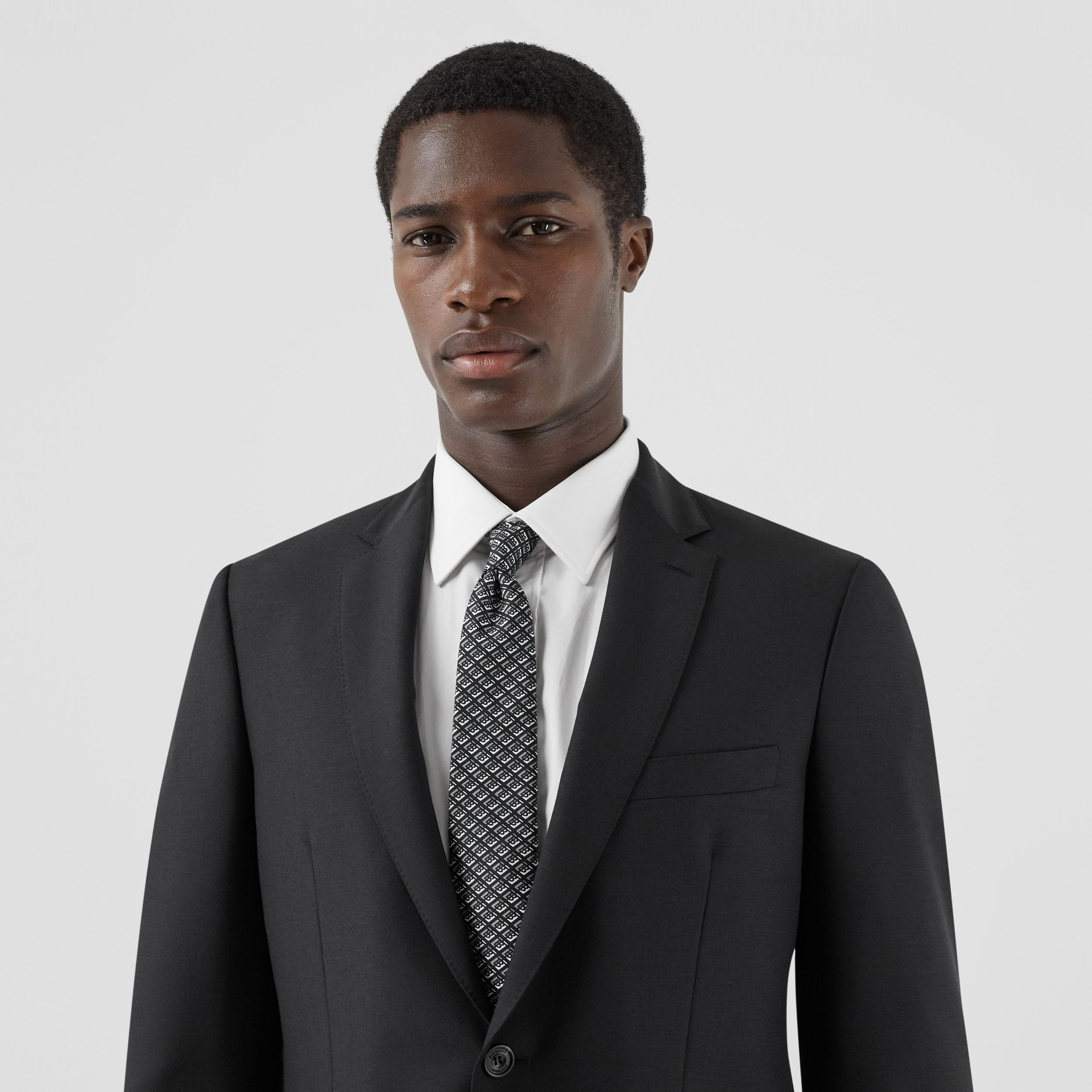 Slim Fit Wool Mohair Suit in Black - Men | Burberry - 2