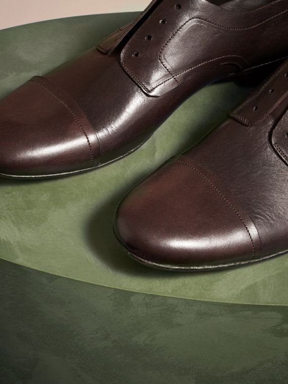 Ebony Washed Leather Derby Shoes - cell image 2