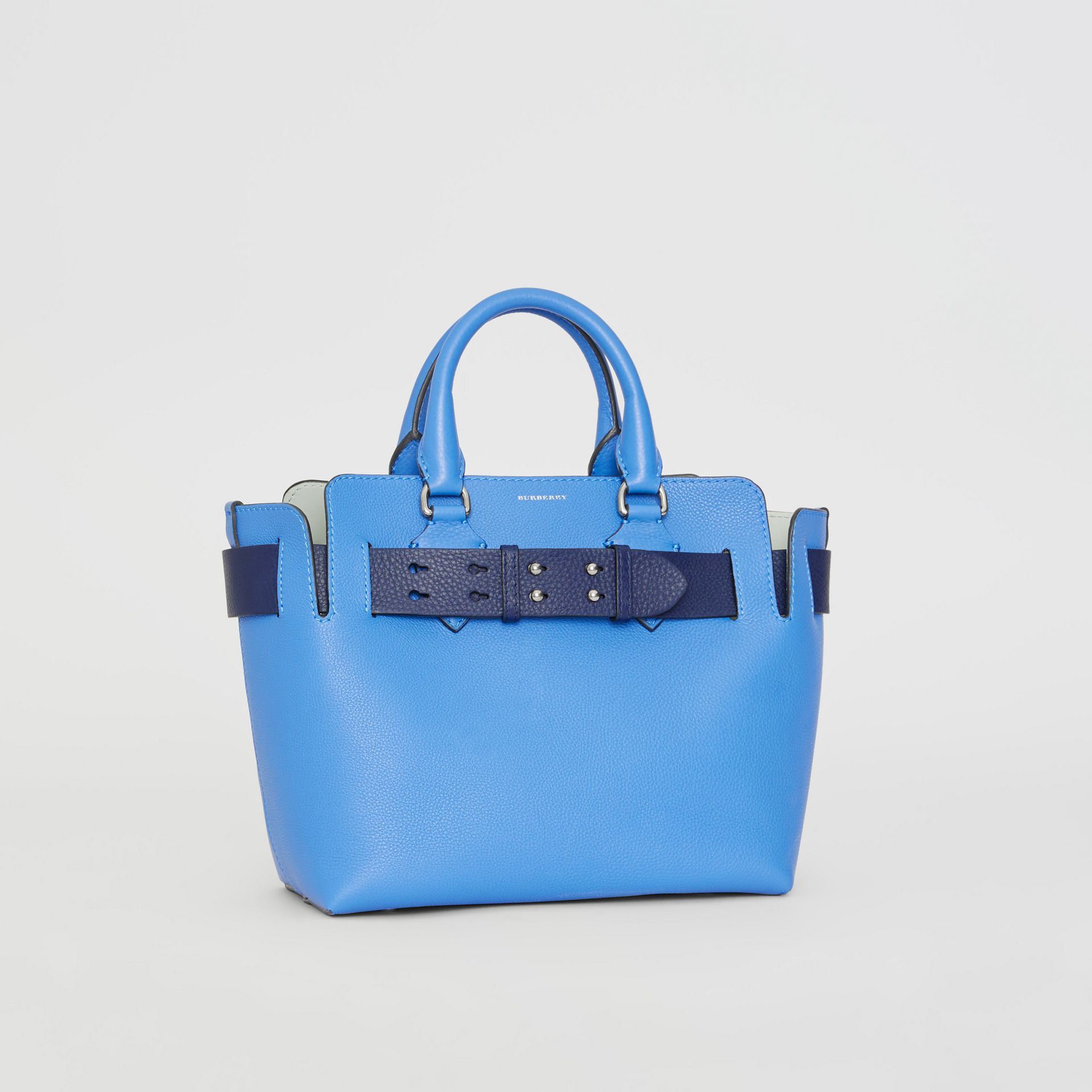 Borsa The Belt piccola in pelle (Blu Ortensia) - Donna | Burberry - immagine della galleria 5