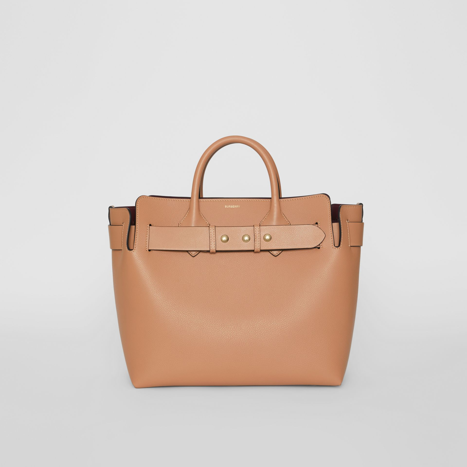 The Medium Leather Triple Stud Belt Bag in Light Camel - Women | Burberry Singapore - gallery image 0