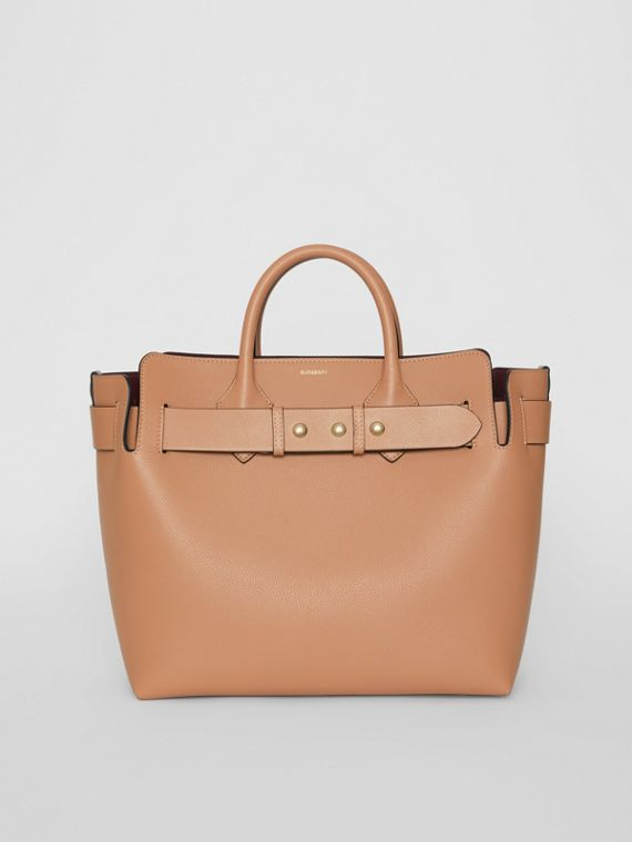 The Medium Leather Triple Stud Belt Bag in Light Camel