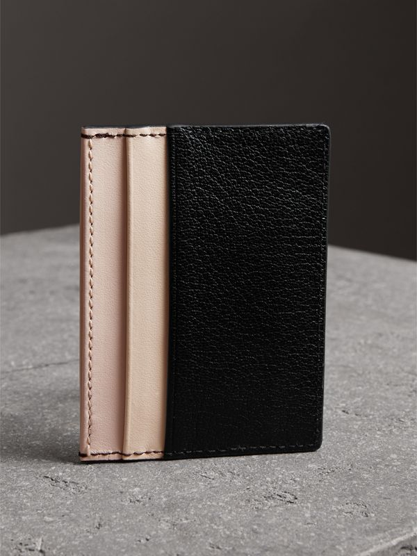 Two-tone Leather Card Case in Black | Burberry United Kingdom - cell image 2