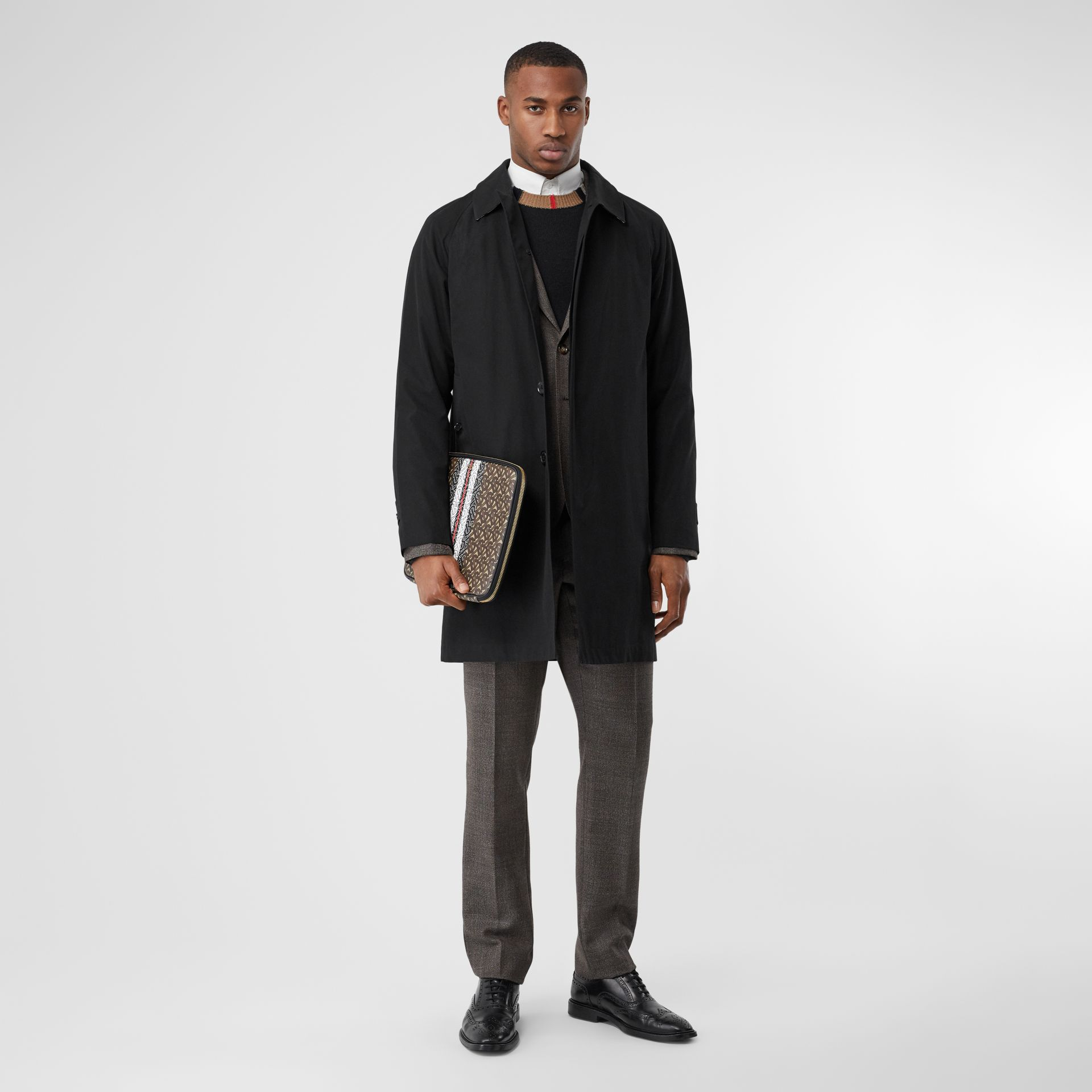 The Camden Car Coat in Black - Men | Burberry Canada - gallery image 6