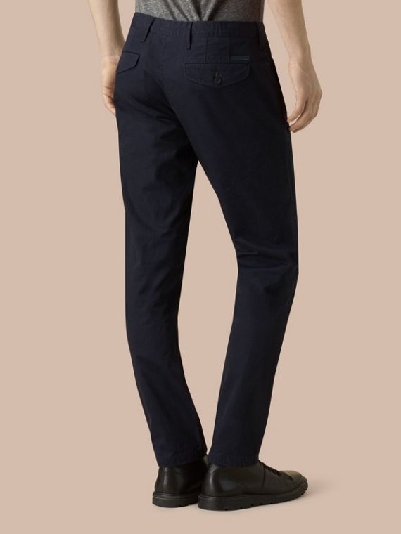 Slim Fit Cotton Chinos Ink - cell image 3