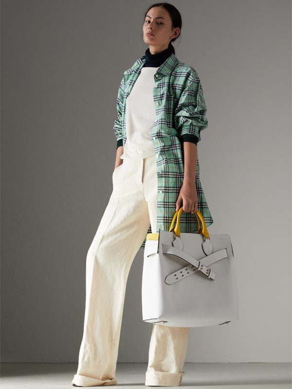 The Large Leather Belt Bag in Chalk White | Burberry Canada - cell image 2