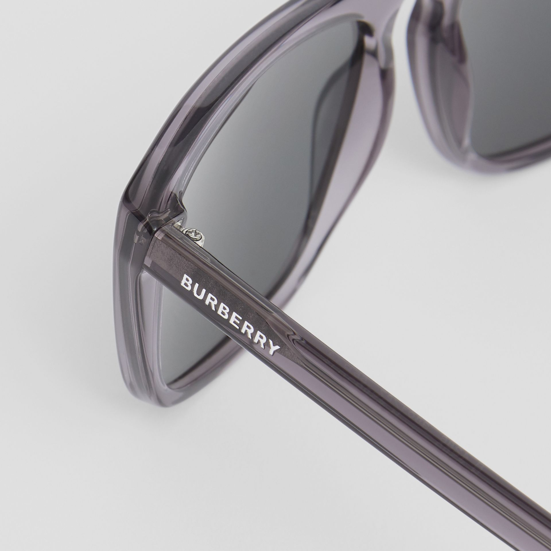 Square Frame Sunglasses in Grey - Men | Burberry - gallery image 1