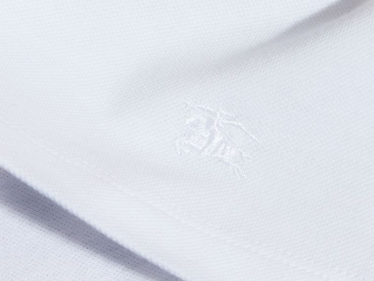 White Check Collar Polo Shirt - cell image 1
