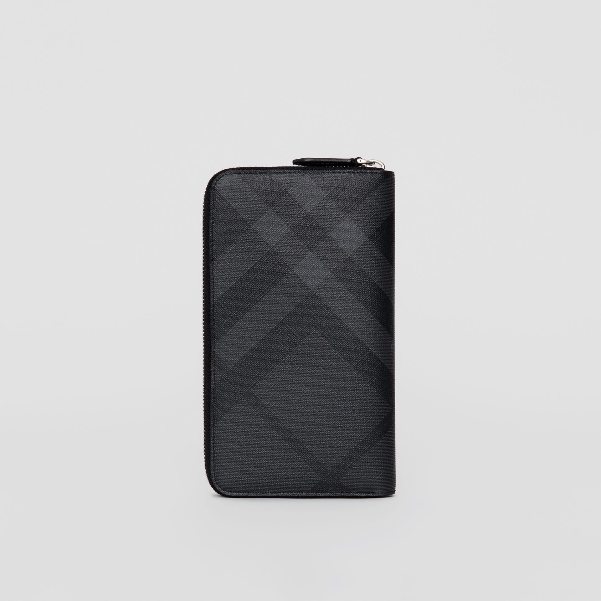 London Check Ziparound Wallet in Charcoal/black - Men | Burberry United Kingdom - gallery image 2
