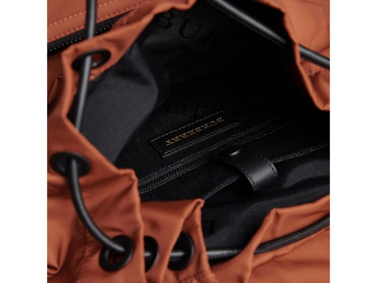 The Large Rucksack in Technical Nylon and Leather in Redwood - Men | Burberry United Kingdom - cell image 4