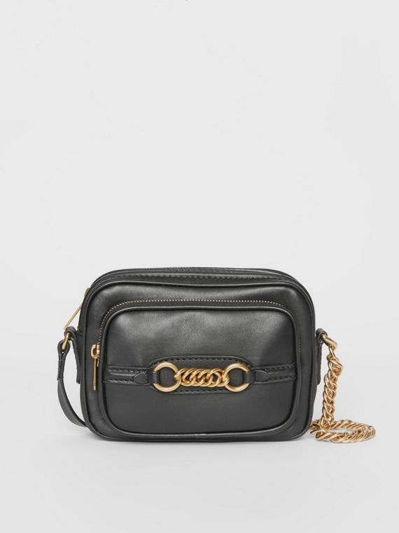 Leather Link Camera Bag in Black