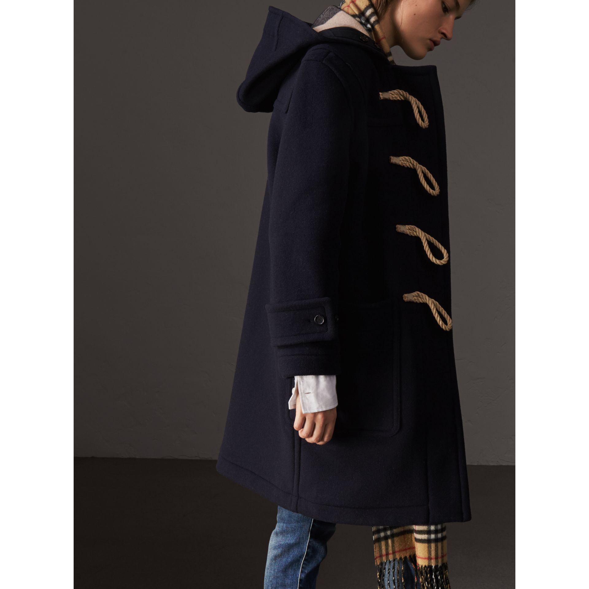 the greenwich duffle coat in navy women burberry. Black Bedroom Furniture Sets. Home Design Ideas