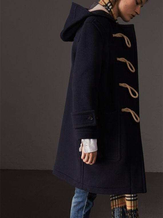 The Greenwich Duffle Coat in Navy - Women | Burberry Hong Kong - cell image 2