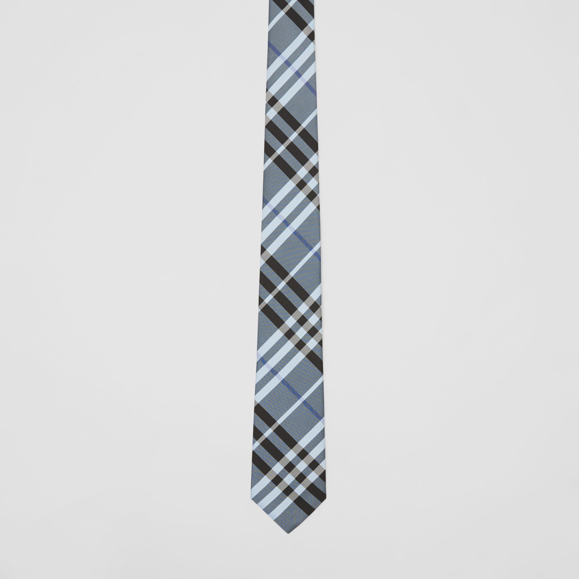 Classic Cut Vintage Check Silk Tie in Light Steel Blue - Men | Burberry - gallery image 3