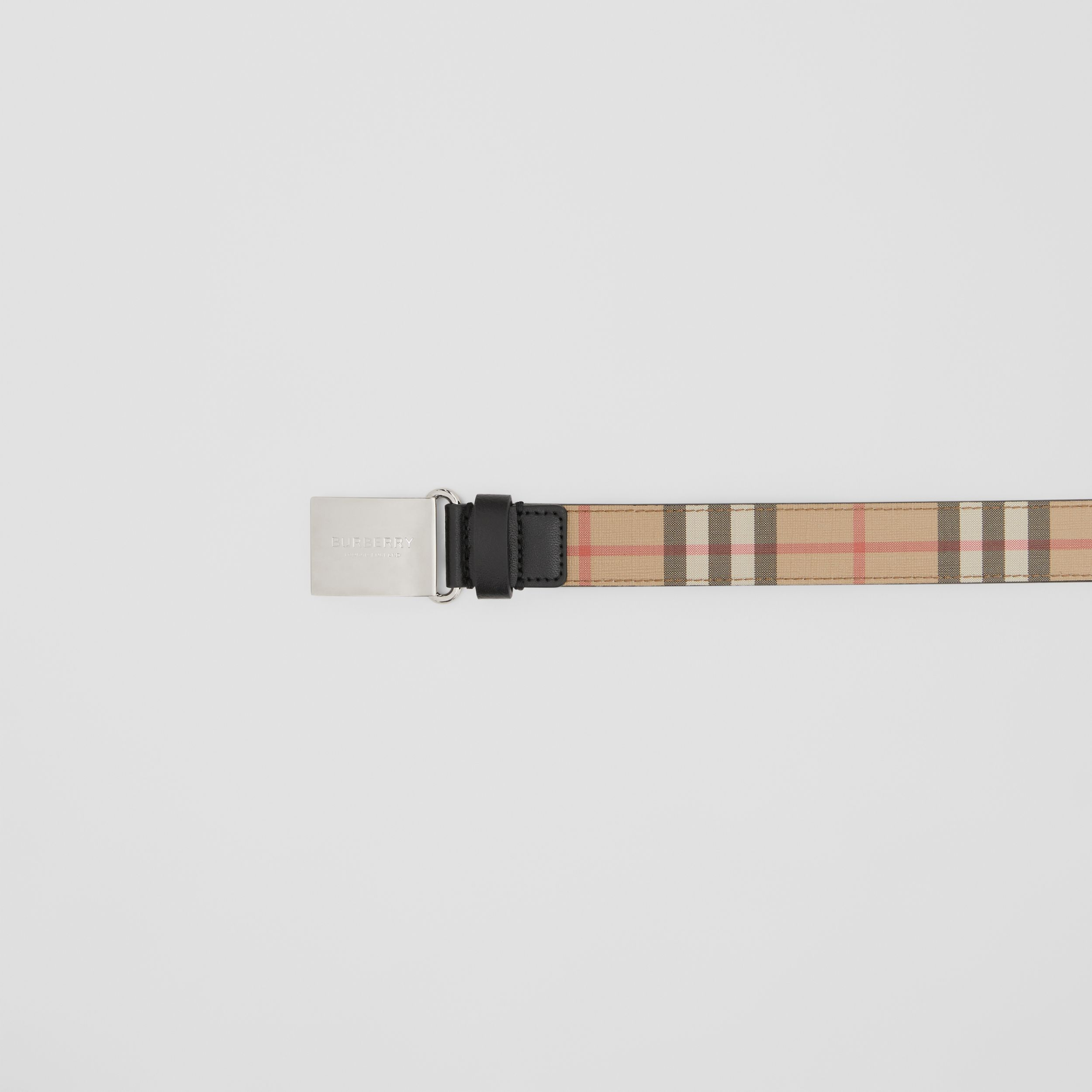 Plaque Buckle Vintage Check E-canvas Belt in Archive Beige - Children | Burberry - 2