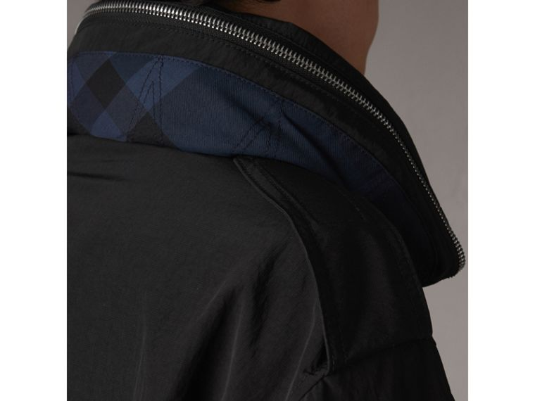 Rainproof Flyweight Jacket with Packaway Hood in Black - Men | Burberry - cell image 4