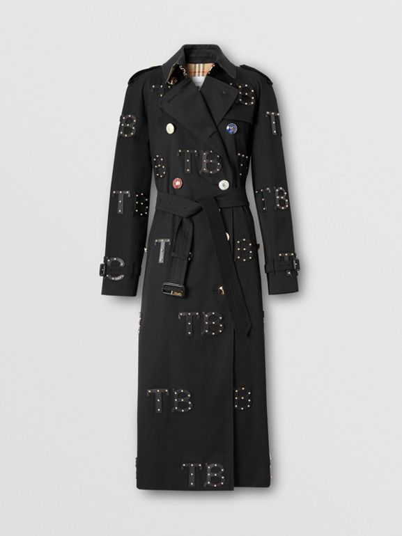The Long Westminster Trench Coat in Black | Burberry - cell image 1