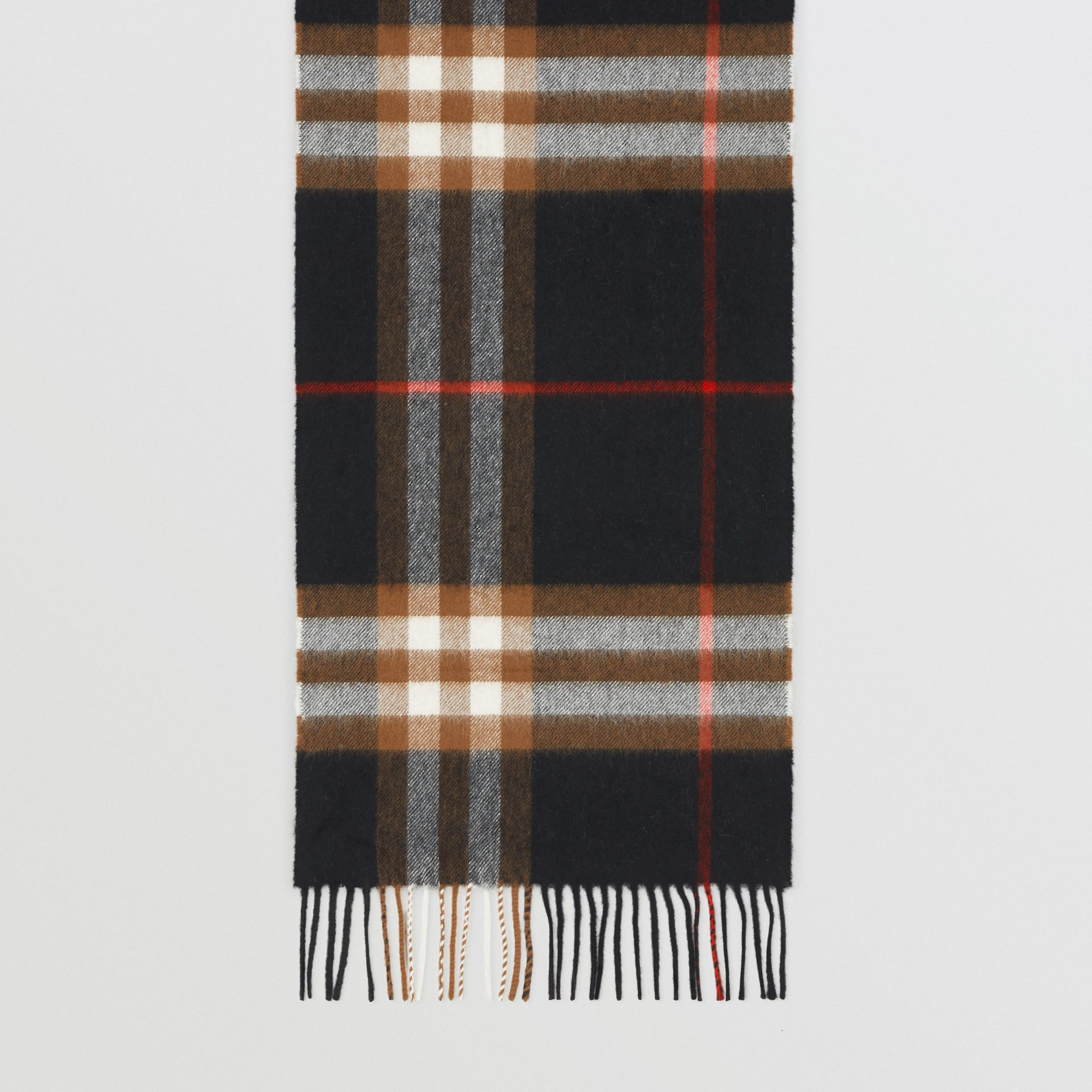 The Classic Check Cashmere Scarf in Black/brown | Burberry - gallery image 4