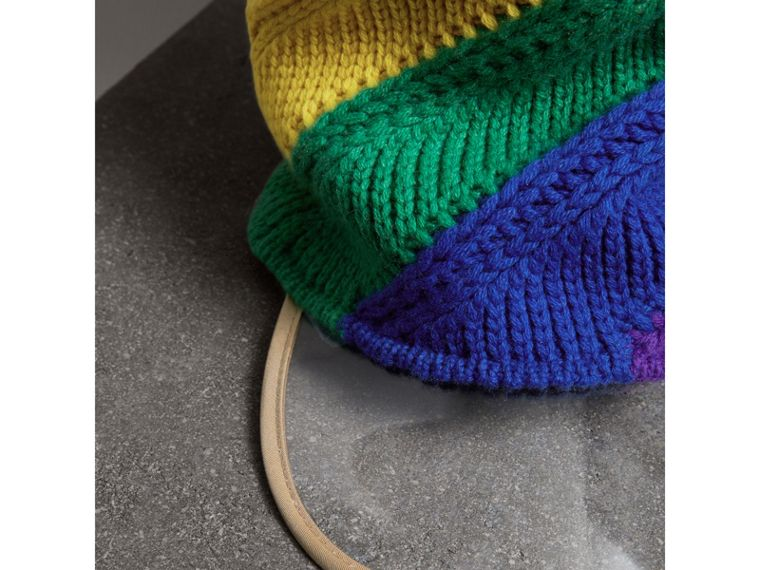 Rainbow Cashmere Peaked Beanie | Burberry United Kingdom - cell image 1