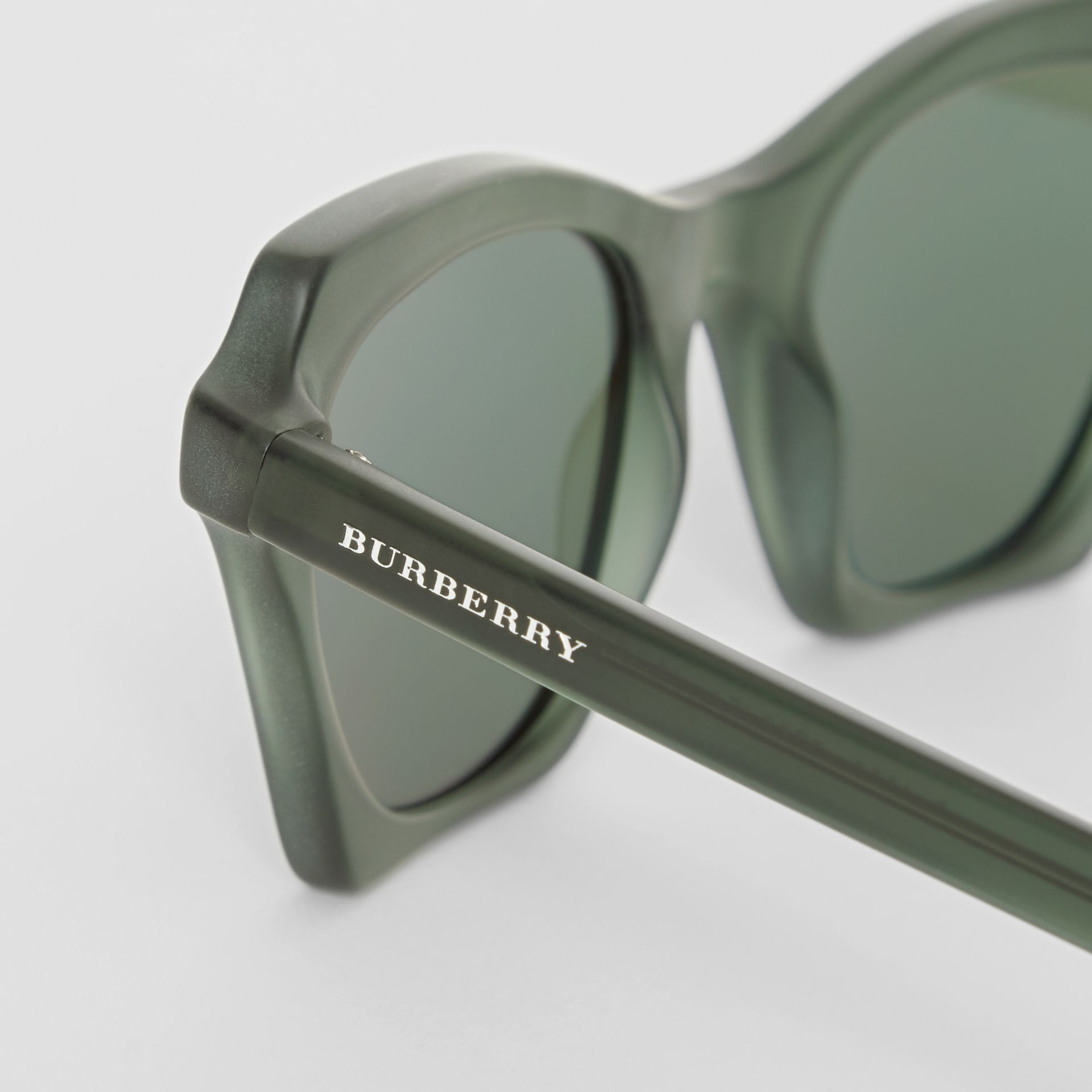 Butterfly Frame Sunglasses in Green - Women | Burberry - gallery image 1