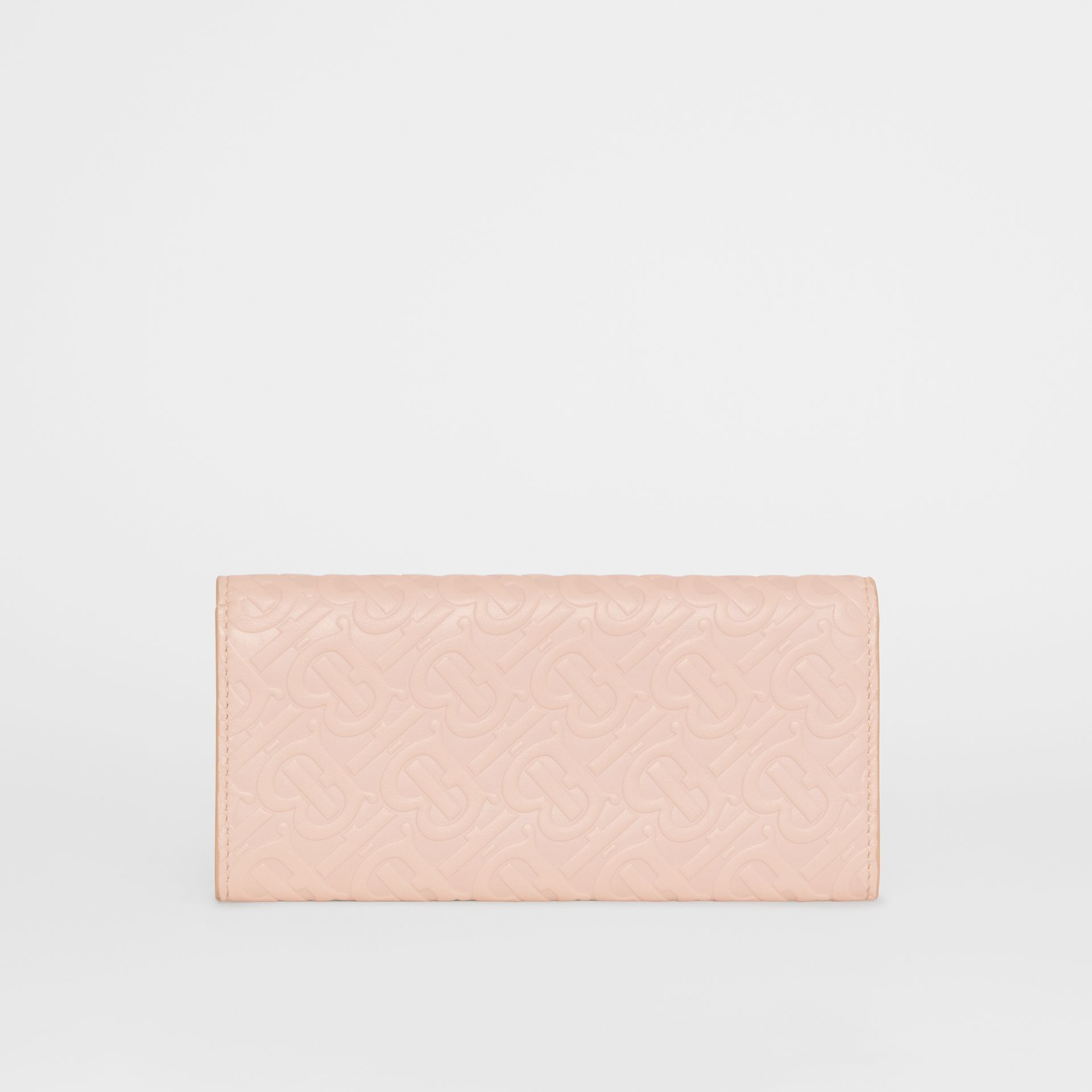 Monogram Leather Continental Wallet in Rose Beige - Women | Burberry Canada - gallery image 5