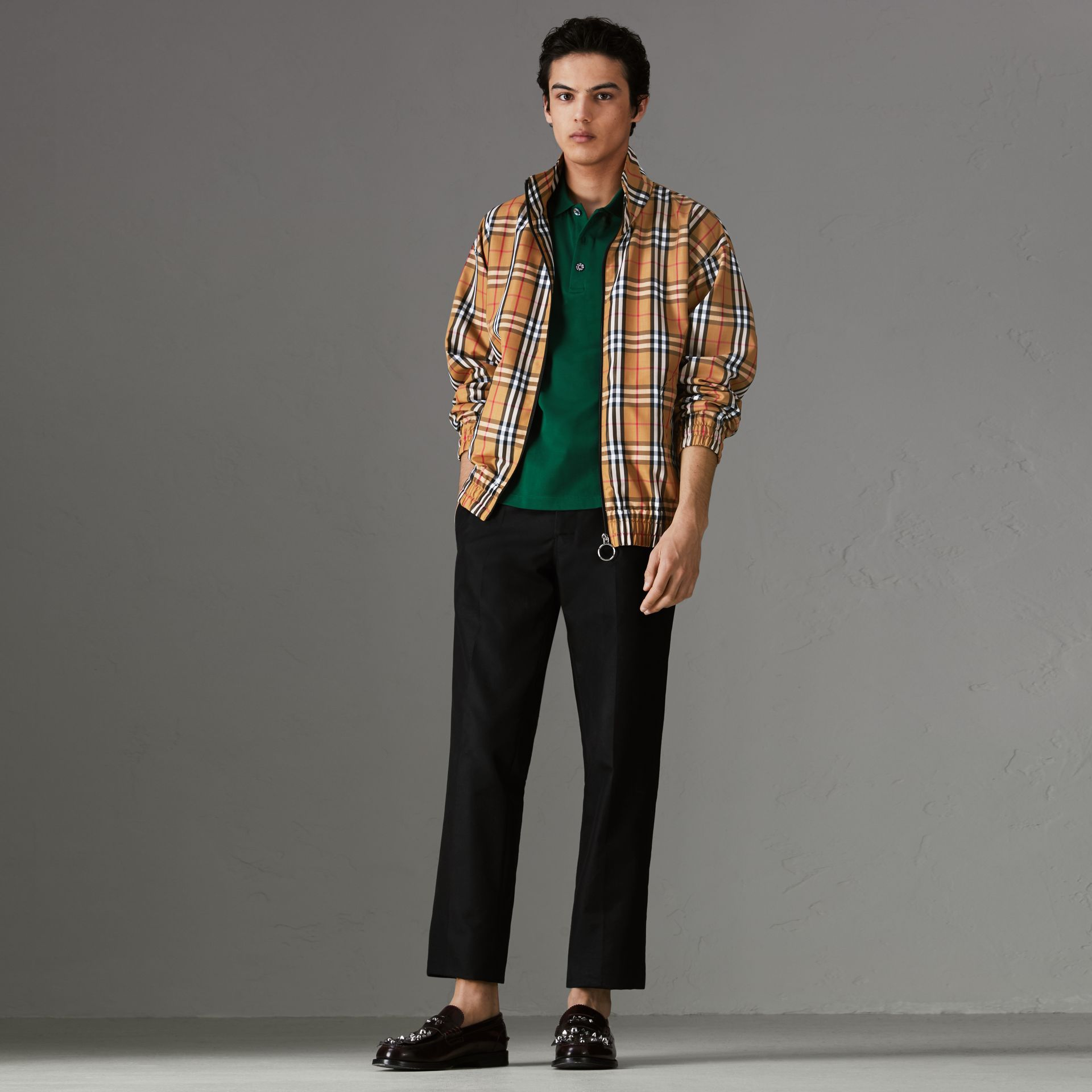 Vintage Check Lightweight Jacket in Antique Yellow - Men | Burberry - gallery image 0
