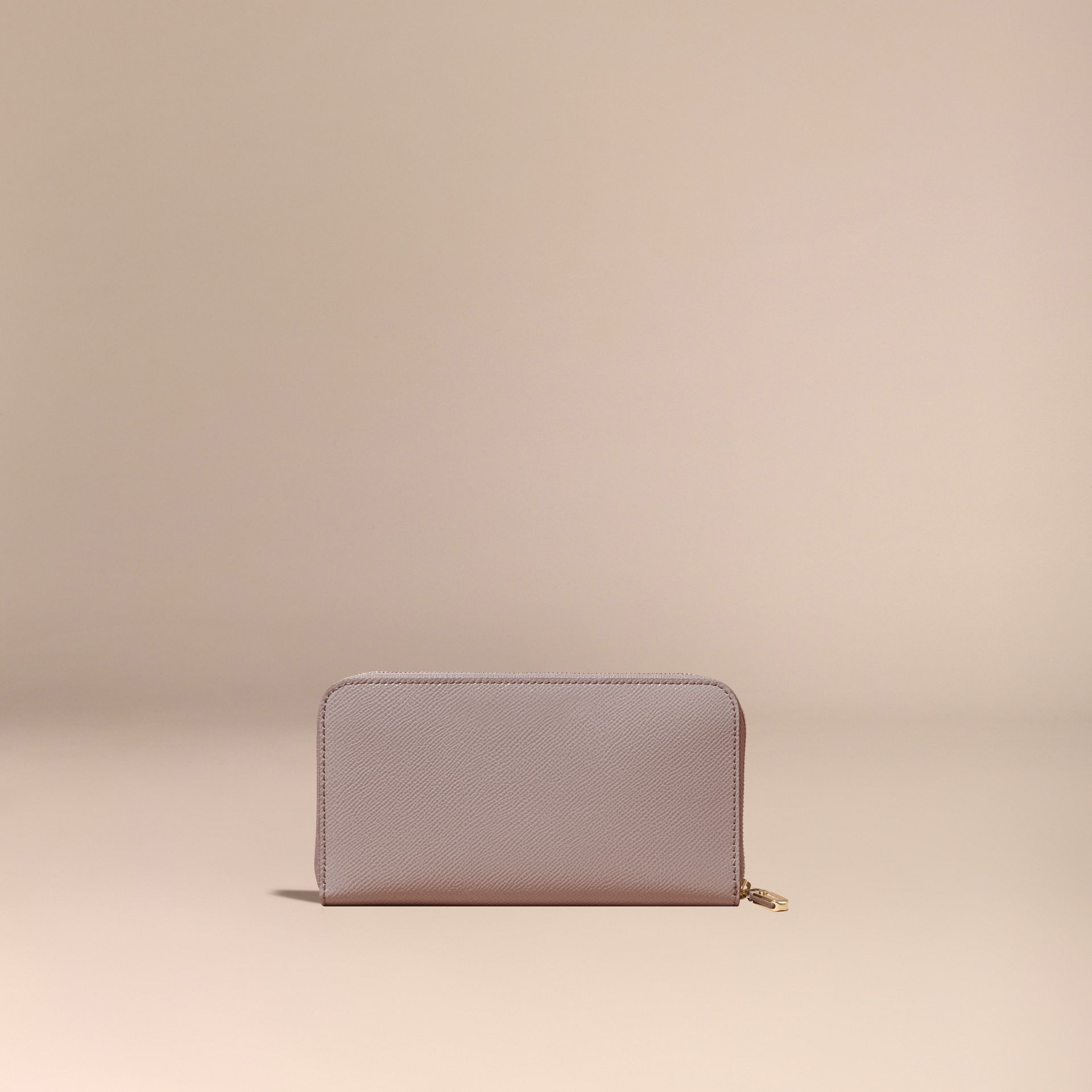 Pale grey Patent London Leather Ziparound Wallet Pale Grey - gallery image 4