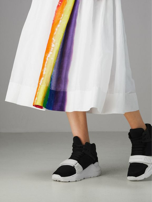 Rainbow Print Organdie Cotton Skirt - Women | Burberry Australia - cell image 1