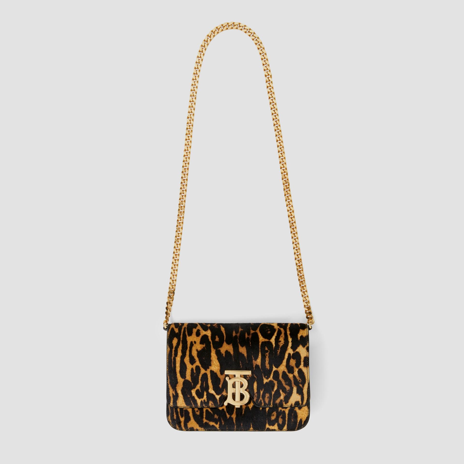 Small Leopard Print Calf Hair TB Bag in Dark Mustard - Women | Burberry Hong Kong S.A.R - gallery image 3