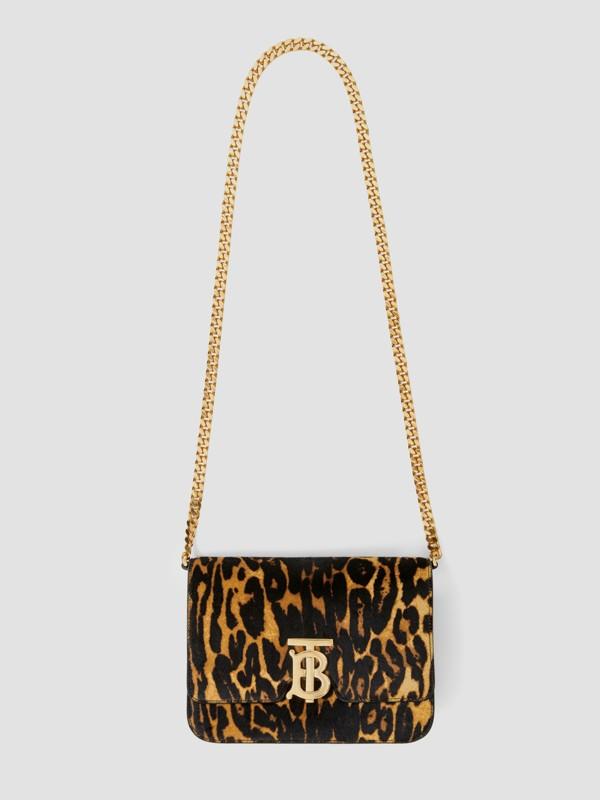 Small Leopard Print Calf Hair TB Bag in Dark Mustard - Women | Burberry Hong Kong S.A.R - cell image 3