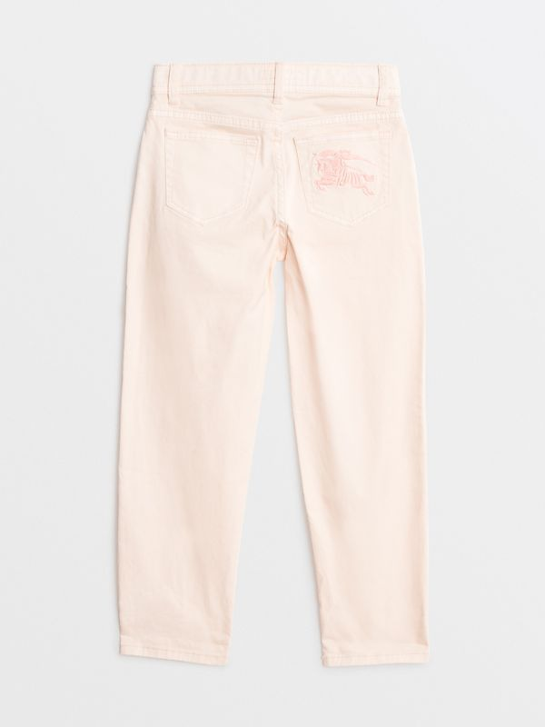 Relaxed Fit Stretch Denim Jeans in Pale Rose Pink | Burberry - cell image 3