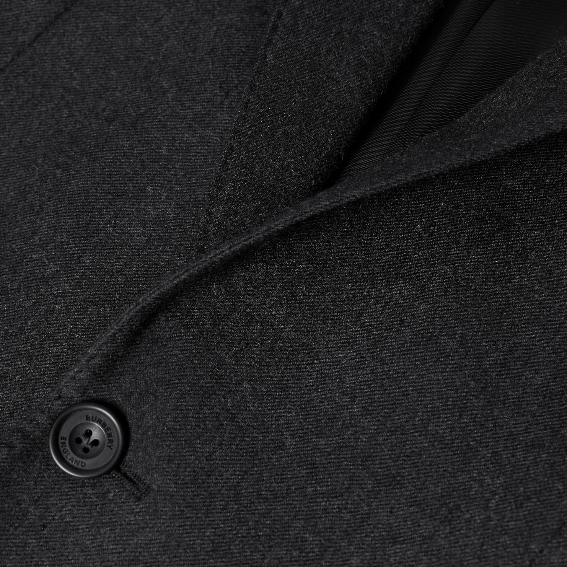 Classic Fit Wool Flannel Tailored Jacket in Charcoal - Men | Burberry - gallery image 5