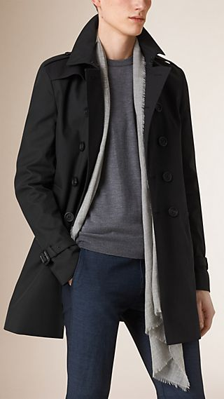 Trench coat in gabardine di cotone