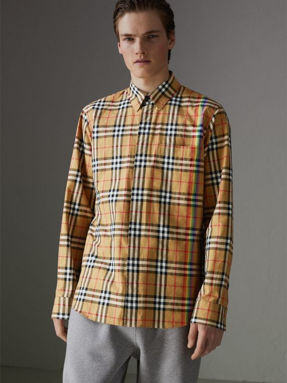 Rainbow Vintage Check Shirt in Antique Yellow
