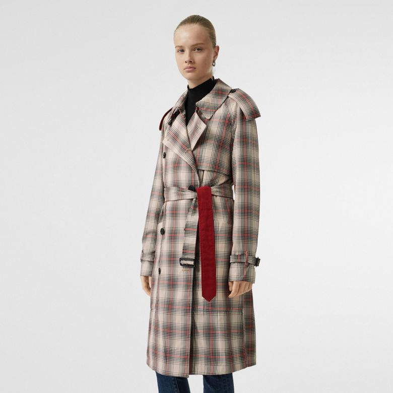 Burberry - Leichter Trenchcoat mit Karomuster - 7