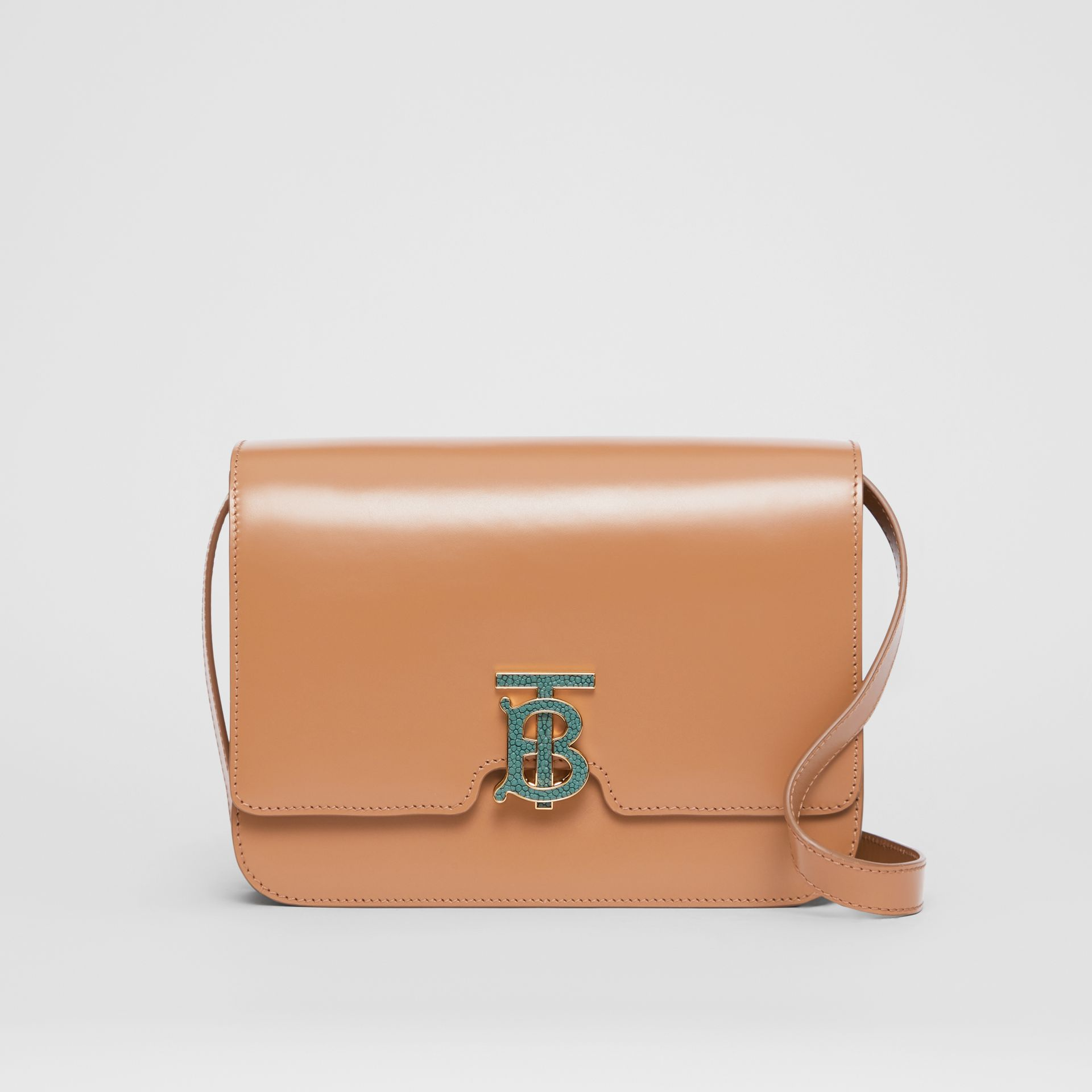 Medium Leather TB Bag in Flaxseed - Women | Burberry United States - gallery image 0