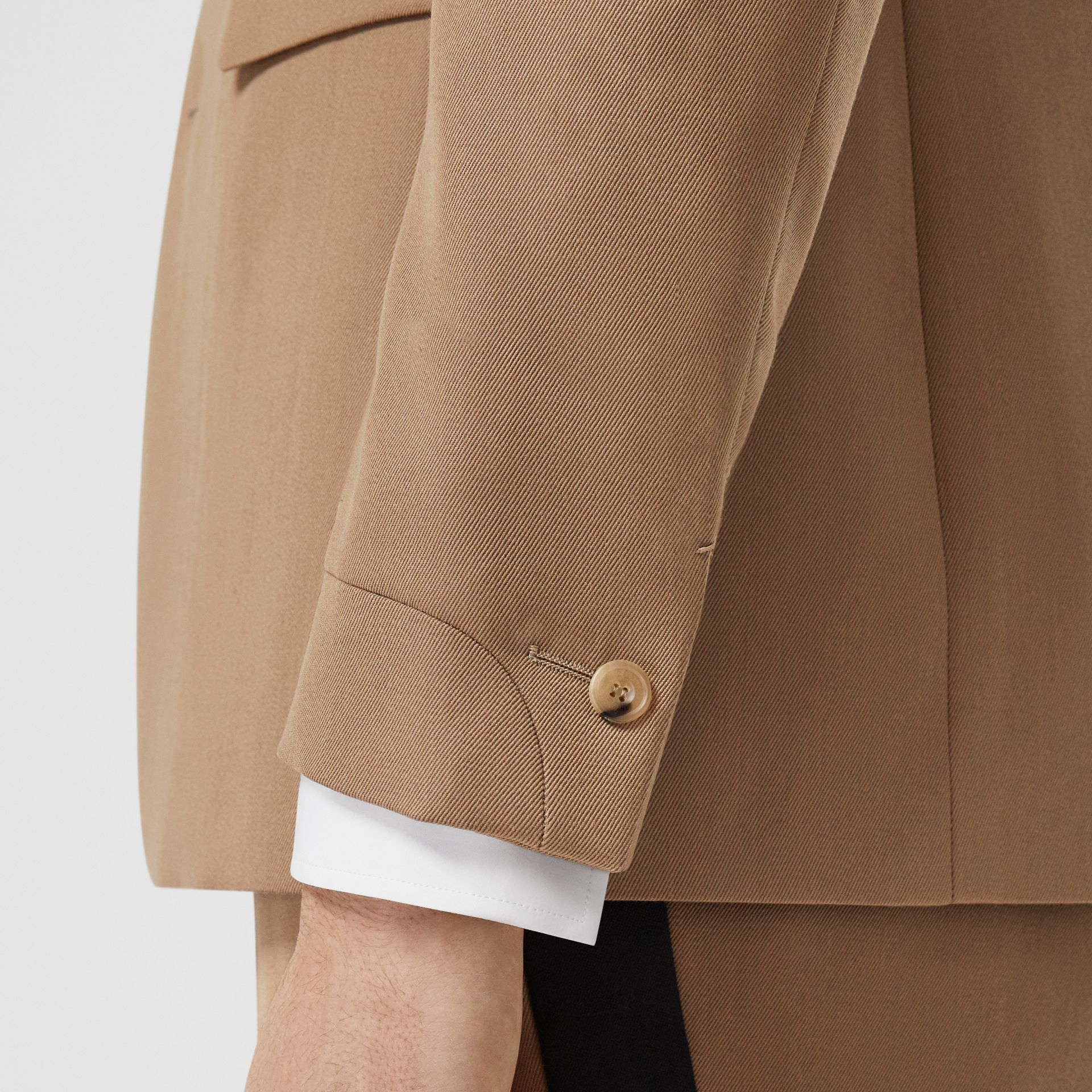 Classic Fit Two-tone Wool Tailored Jacket in Camel - Men | Burberry United Kingdom - gallery image 5