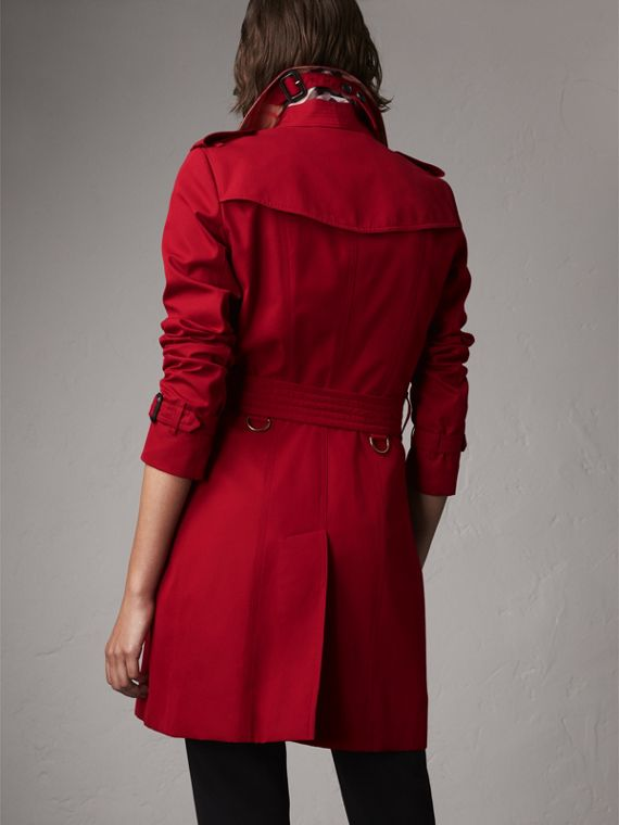 The Chelsea – Mid-length Heritage Trench Coat in Parade Red - Women | Burberry Singapore - cell image 2