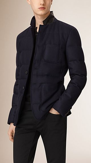 Blazer in lana e cashmere imbottito