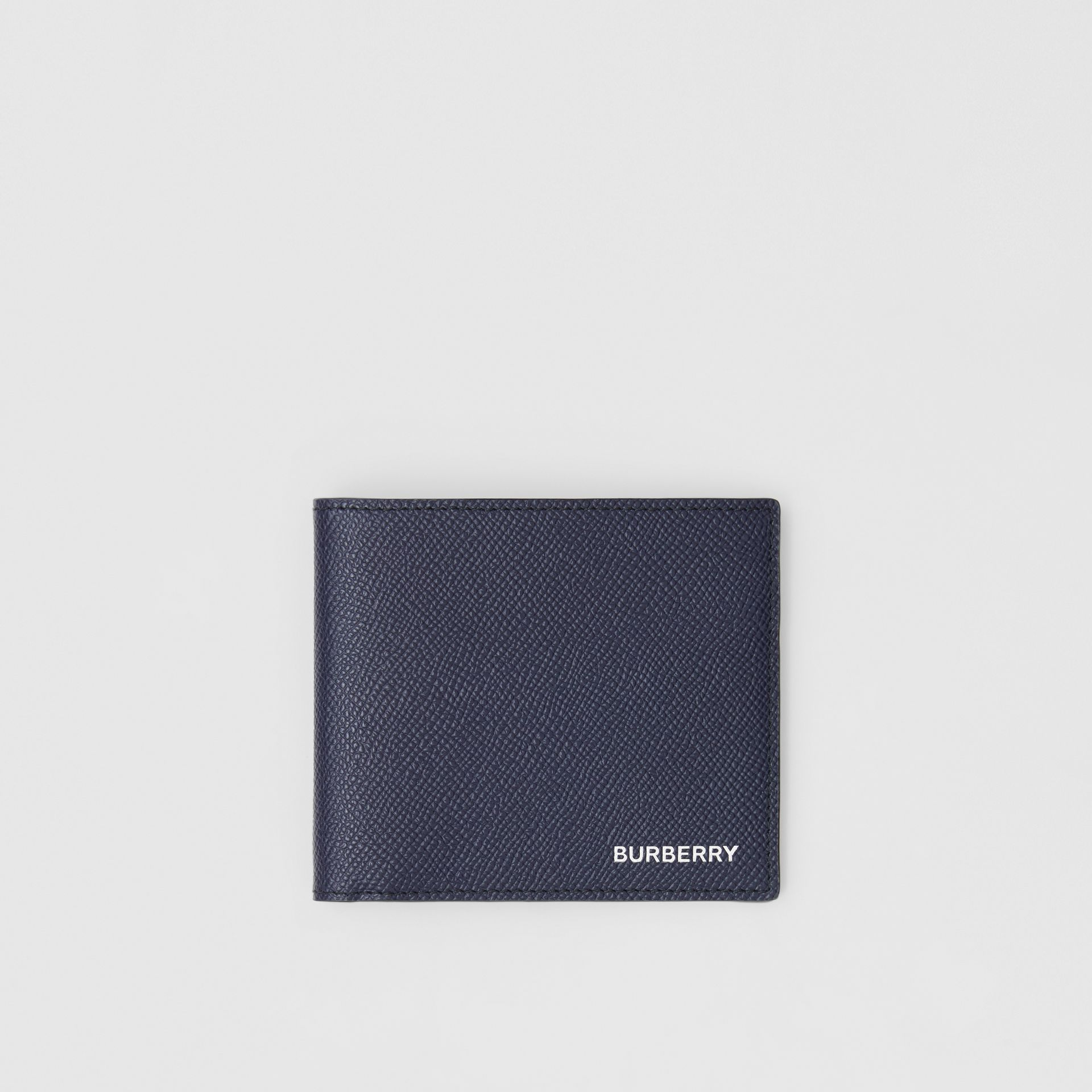 Grainy Leather International Bifold Wallet in Regency Blue - Men | Burberry United Kingdom - gallery image 0