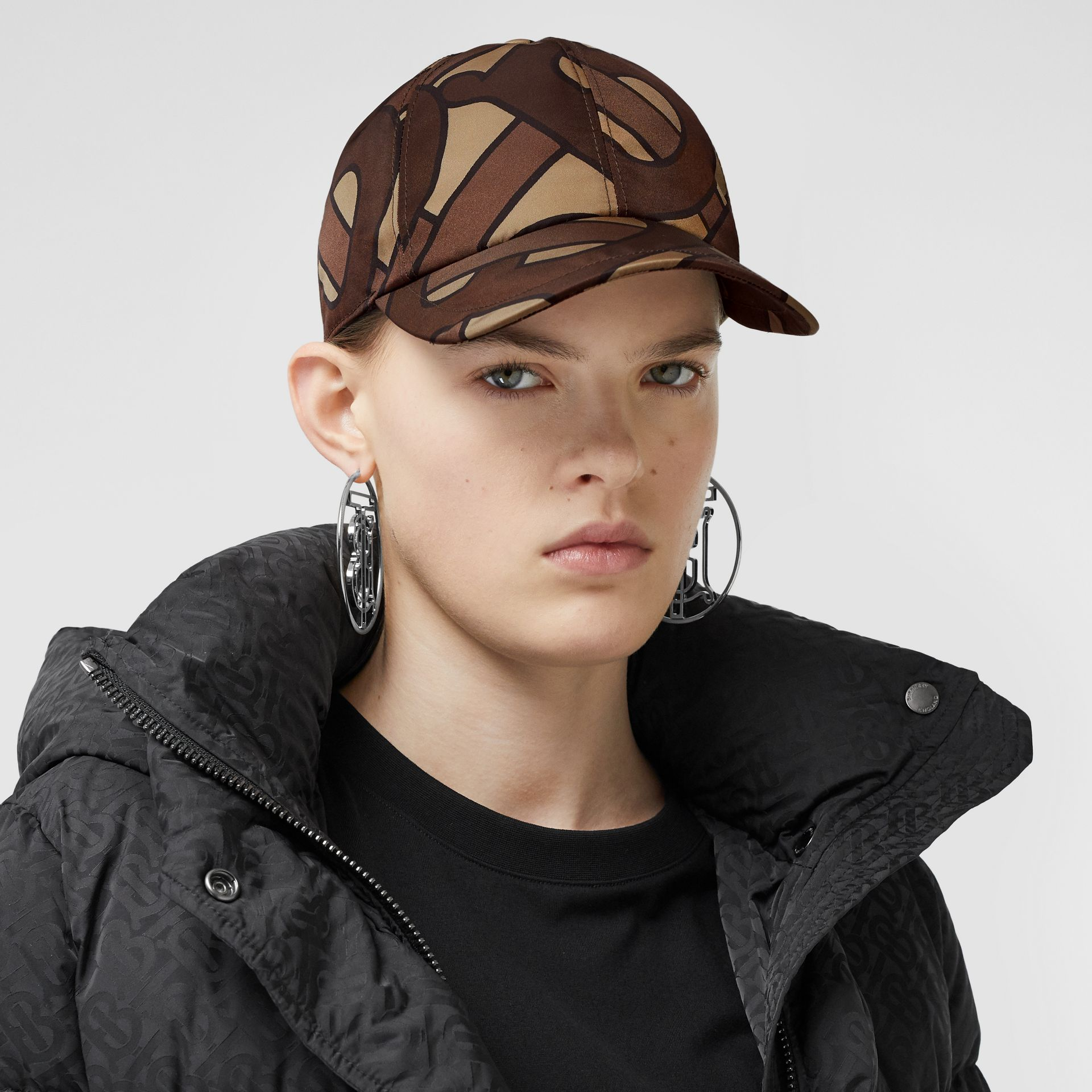 Monogram Print Baseball Cap in Bridle Brown | Burberry United Kingdom - gallery image 2