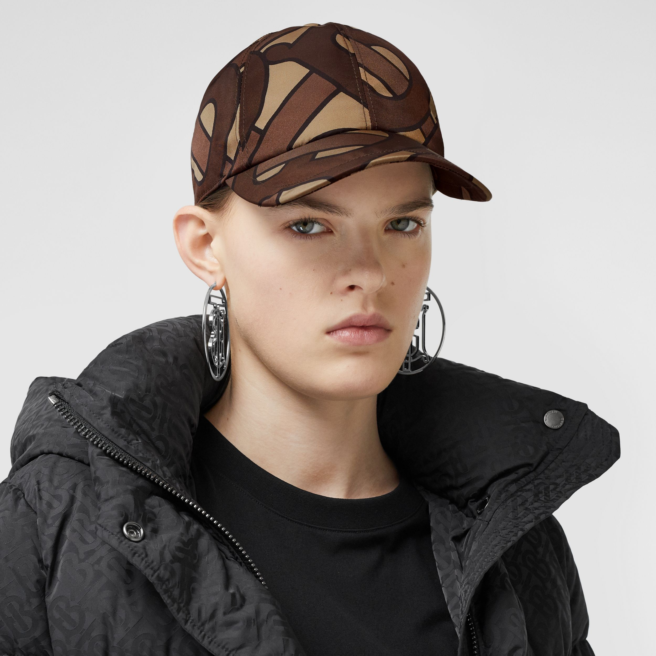 Monogram Print Baseball Cap in Bridle Brown | Burberry Hong Kong S.A.R - 3
