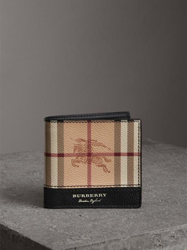 Haymarket Check International Bifold Coin Wallet in Black - Men   Burberry - cell image 3