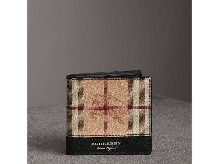Haymarket Check International Bifold Coin Wallet in Black - Men | Burberry - cell image 4