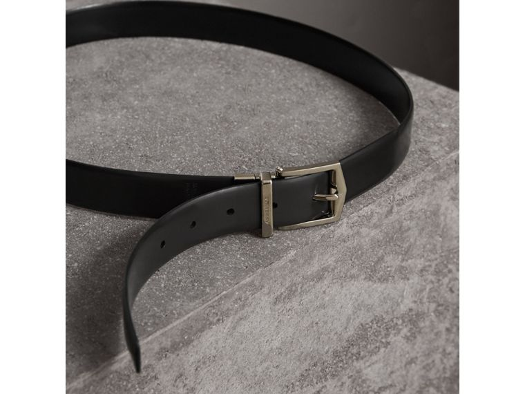 Reversible Bridle Leather Belt in Black/chocolate - Men | Burberry United Kingdom - cell image 4